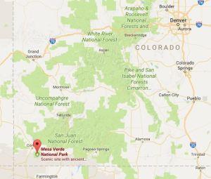Mesa Verde google map