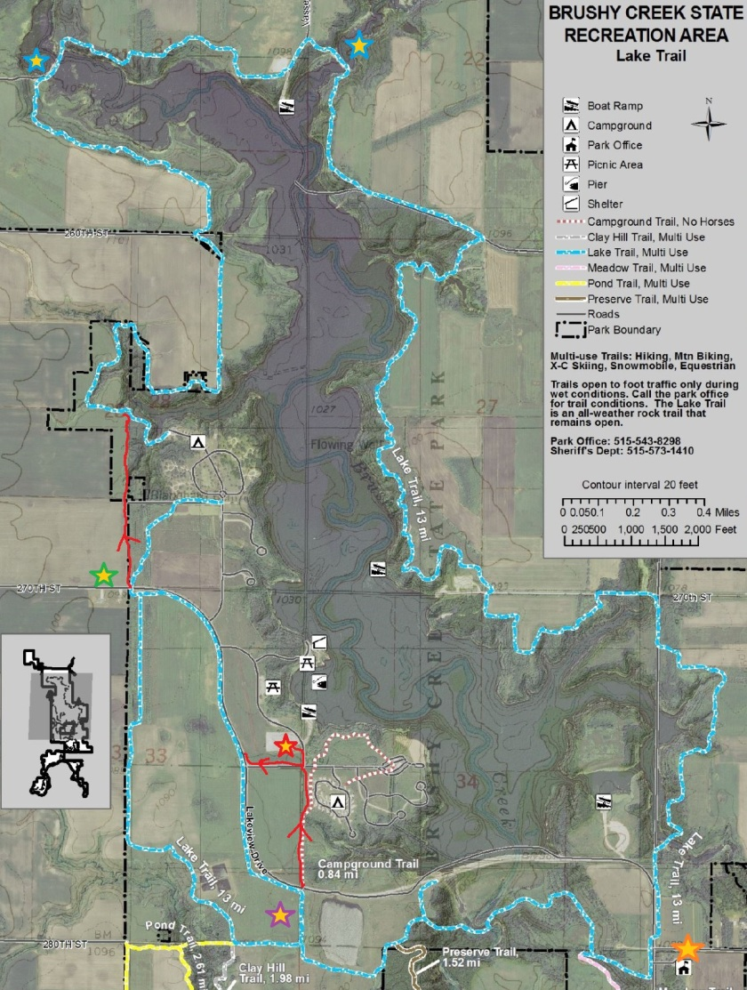 brushy creek lake map Brushy Creek State Rec Area Lake Loop The Iowa Hiker brushy creek lake map