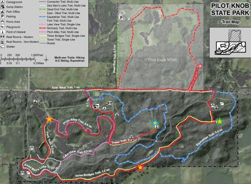 Pilot Knob Trail Map