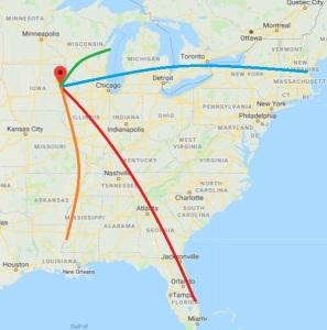 east coast trips