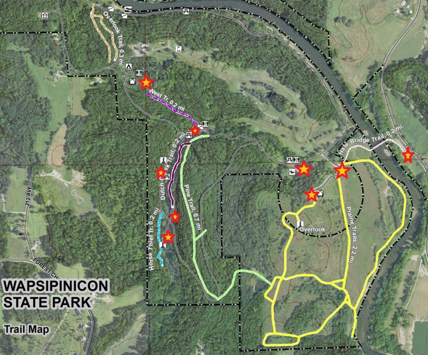 Wapsi Trail Map parking
